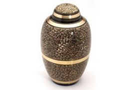 Large Brass Urn 10 Westminster Black
