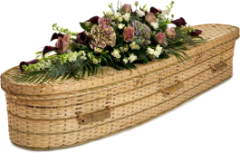 Teardrop bamboo coffin
